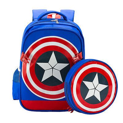 Anime Marvel Avengers Captain America Shield schoolbag Rucksack backpack Kid Bag