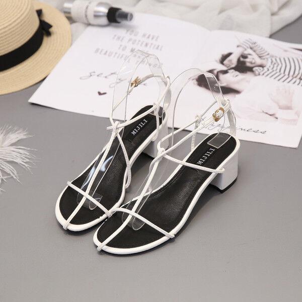 Sandales Carré Élégant Sabot 6 cm blanc Chaussons Cuir Synthetique Cw412