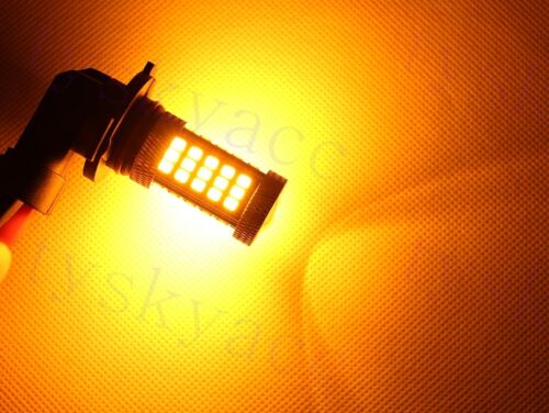 Vehicle LED H10 9005 HB3 63SMD Bulbs Day Running Light Fog Driving Lamp Yellow