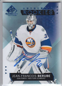 2015-16-UD-SPGU-JEAN-FRA-BERUBE-RC-AUTO-BLUE-136-Autograph-SP-GAME-USED-ROOKIE
