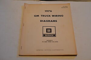 1976 CHEVY GMC 10-1500 30-3500 GM SHOP MANUAL WIRING ...