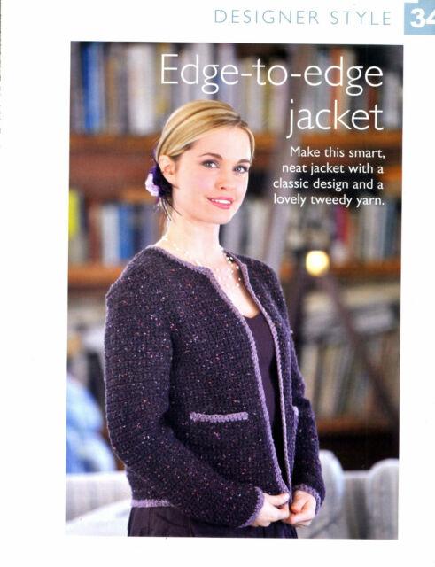 Crochet Pattern - Lady's Edge to Edge Jacket Classic Tweed Aran To Crochet DS34