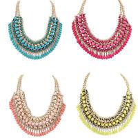 Statement Chain Necklace Jewelry Women Pendant Chunky Crystal Bib NEW Choker