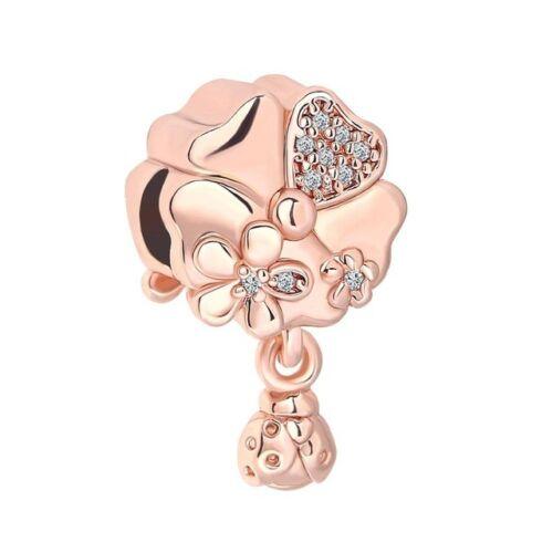 45 estilos nuevo Rose Oro Circonita europeo encanto granos Fit Pulsera Cadena Collar 925