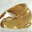 thumbnail 6 - Ladies Gold Plated Cocktail Band Ring Size 12 Wide