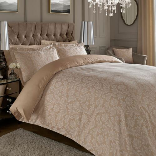 Jacquard 600 Thread Count Cotton Rich Floral Duvet Cover Set Oxford pillowcases