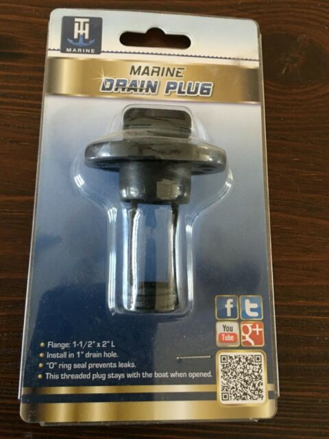 T-H Marine Drain Plug-Screw Type-1  Black Dp1Dp