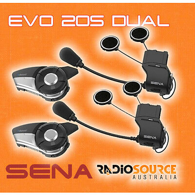 Sena 20S EVO Motorcycle Bluetooth Communication Dual ** BONUS POWER BANK **