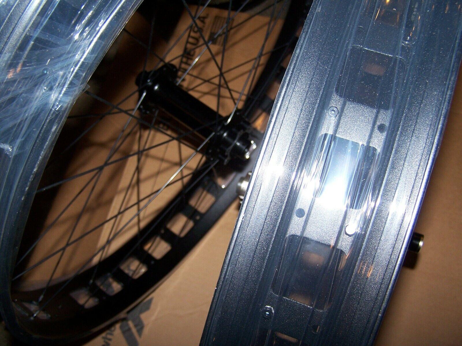 Alex Blizzerk 70 Tubeless Thru-Axle 15x150 Front /& 12x197 Rear Fat Bike Wheelset
