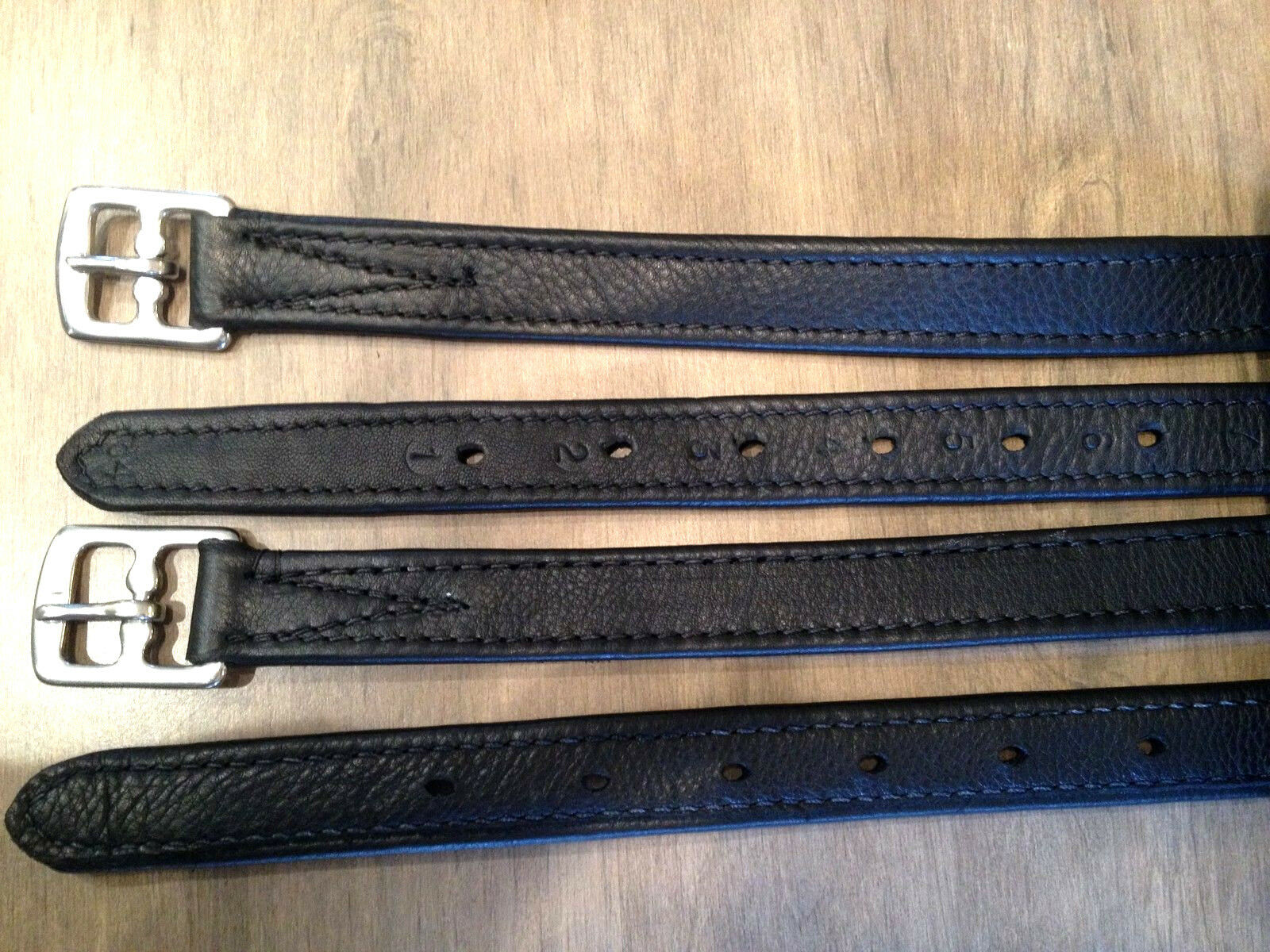 54  marron NON STRETCH HERITAGE 100% ENGLISH MADE STIRRUP LEATHERS SADDLES WOW