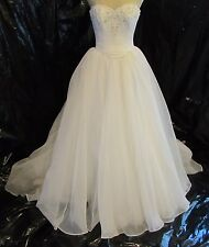 Maggie Sottero 2 Piece Wedding Dress Bridal Gown Size 10  As Is