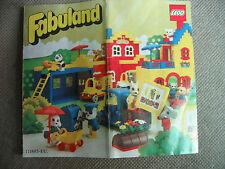 Lego Fabuland Faltblatt, kleiner Katalog von 1981  9x10 cm
