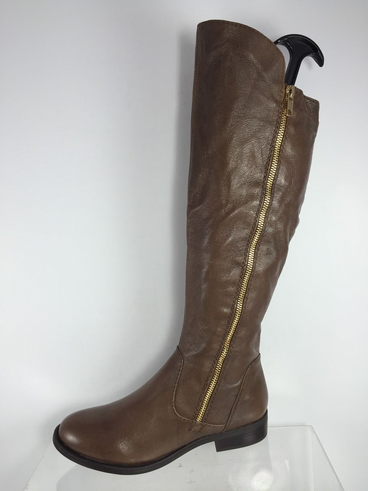 Steve Madden Womens Brown Leather Knee Boots 7.5 M
