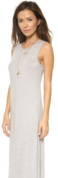 Haute Hippie Grey Sleeveless Muscle  Club Club Club Party  Maxi Dress with  train  Size M 9046b0