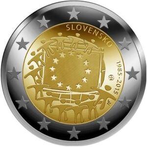 Slovaquie-2015-30-Ans-Drapeau-de-l-039-europe-Europeen-drapeau-unc