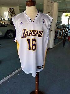 8d10554e5bac Adidas Los Angeles Lakers Pau Gasol Swingman NBA Jersey Men s XL.