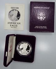1989 S San Francisco Proof  American Silver Eagle 1 oz 999 Box/COA B2