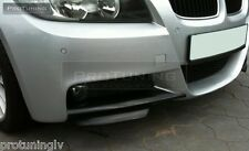 BMW E90 E91 M-Sport Front Bumper spoiler flaps elerons M Power tuning M-Tech M3