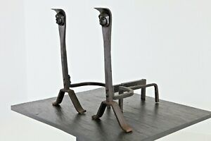 Antique-Pair-of-Andirons-with-Monk-Faces