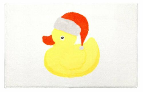 Christmas Ducky Rug 20 inches by 30 inches Low pile mat with non-slip latex back