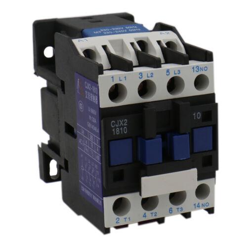 AC Contactor CJX2-1810 220V 50Hz//60Hz Coil 18A 3-Phase 3-Pole 1NO normally open