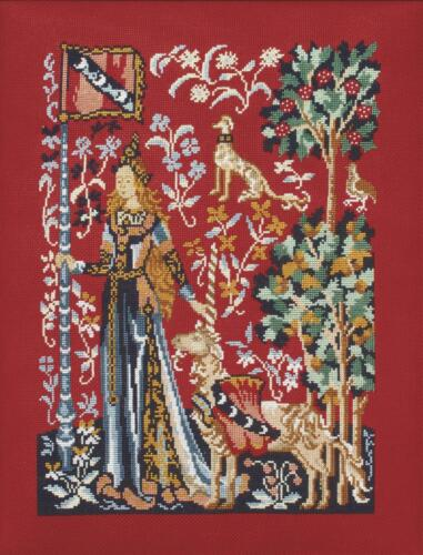 le toucher Lady and the Unicorn-Touch Princesse Counted Cross Stitch Kit