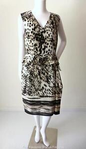 PER-UNA-NEW-rrp-103-00-Size-12-US-8-Dress-Sleeveless-Peplum-Sheath