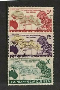 1962-Papua-New-Guinea-Fifth-South-Pacific-Conference-SG-36-8-Set-3-FU-stamps