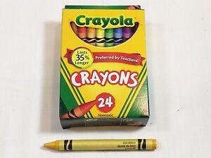 crayola crayons 24 count box retired dandelion color new ebay