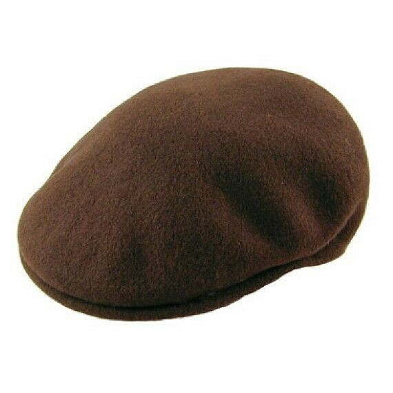 c4d80db1422 Kangol Headwear Unisex Wool 504 Flat Cap Brown (tobacco) Large