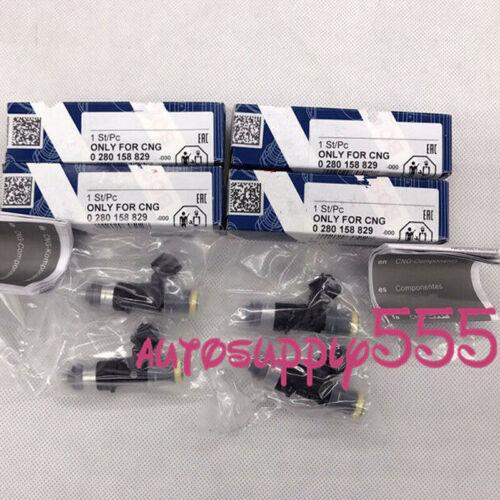 4 PCS Genuine Fuel Injector 0280158829 EV1 Connector 210LB 2200cc High impedance