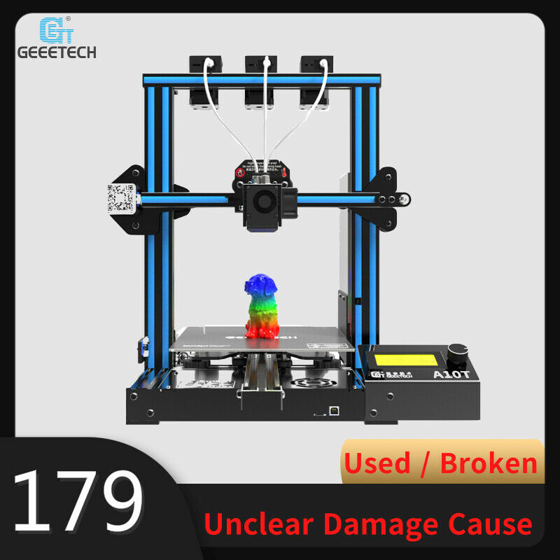 From US- Geeetech A10T 3 in 1 Mix-color 3D Printer Used/Broken