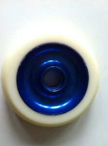 EAGLE-SCOOTER-PP-Wheel-WHITE-ON-BLUE-NO-BEARINGS