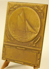 Medaille régate voiliers vieux grééments regatta sailing boat race c 1900 medal