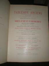 catalogue de ventes Paris 1922 108 Lots tableaux objets d'art bel ameublement