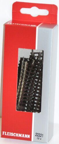 OVP 12 Stück Fleischmann N 22221-S Gebogenes Gleis R1 194,6 mm 30° - NEU