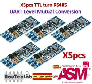 Candide 5pcs Ttl Turn Rs485 485 To Serial Uart Mutual Conversion Automatic Flow Control