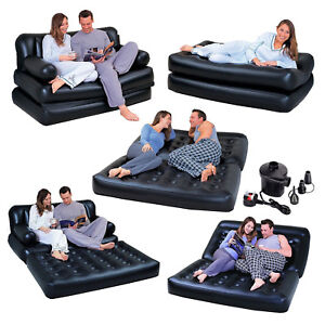 5-in-1-INFLATABLE-DOUBLE-SOFA-LOUNGER-COUCH-AIRBED-MATTRESS-FREE-ELECTRIC-PUMP