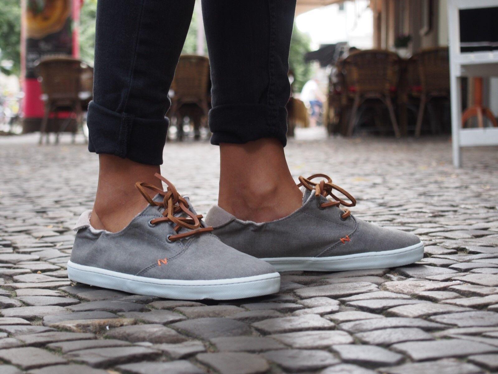 HUB Footwear Schuhe KYOTO C06 grau Grauish Canvas Sneakers NEU Damen Halbschuhe