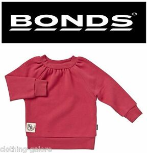 66ff0cdc2397 BONDS BABY GIRL LONG SLEEVE GIRLS RED JUMPER WARM COMFORTABLE TOP ...