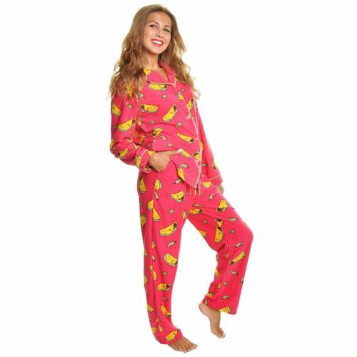 Details about  /Angelina Women/'s Cozy Fleece Pajama Set