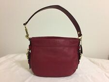 AUTH COACH Red Leather Zoe Mini Shoulder Bag