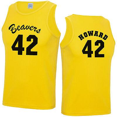 Beavers 42 Basketball T-Shirt Fancy Dress Costume Howard Teen Wolf Mens Top