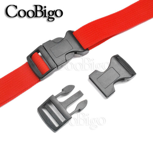 """5//8/"""" 3//4/"""" 1/"""" Curved Side Release Buckle Contoured Colorful for Paracord Bracelet"""