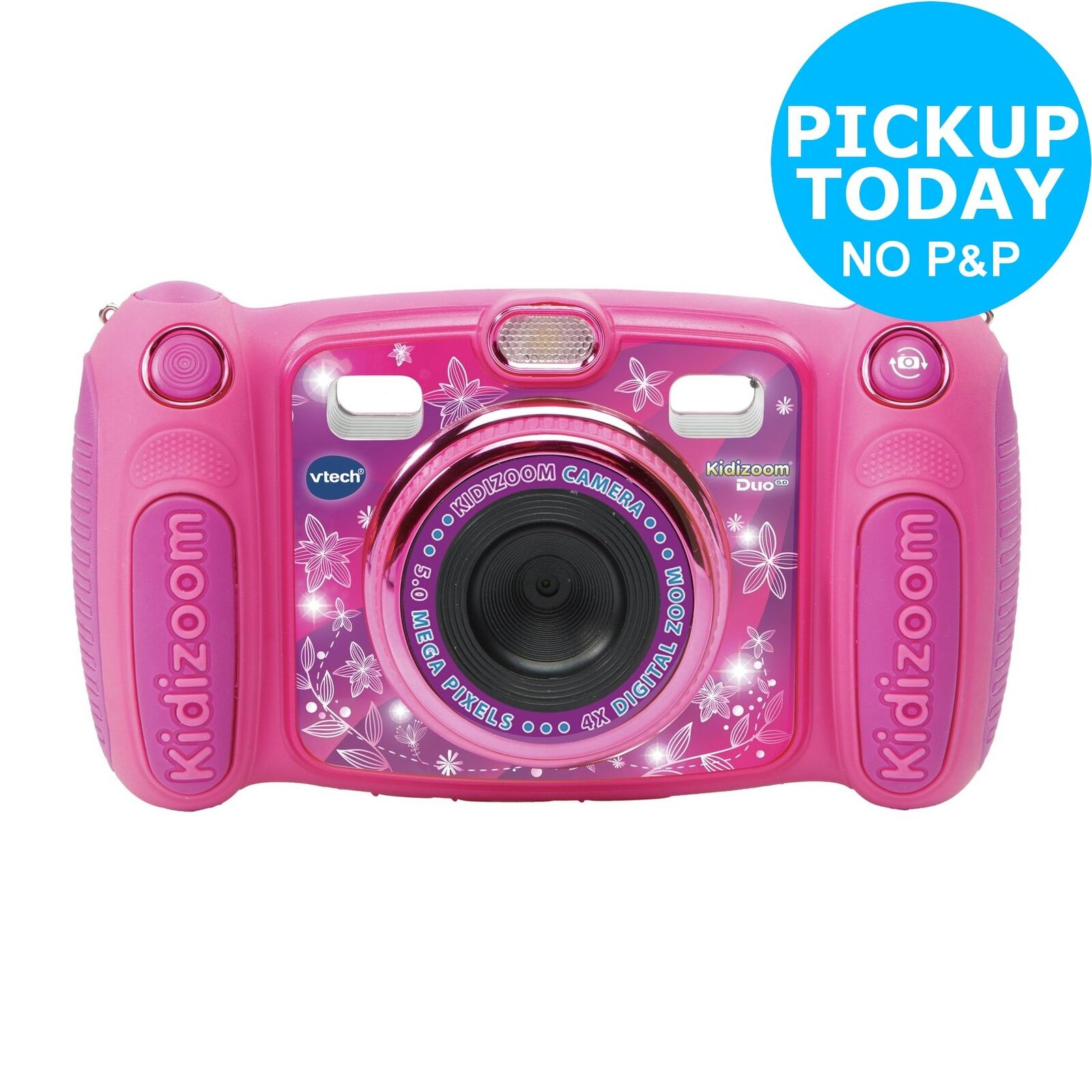VTech Kidizoom 2.4 Inch LCD 4x Digital Zoom 5MP Camera - Pink - 3+ Years