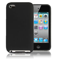 Black Soft Silicone Skin Cover Case For iPod Touch 4 4G