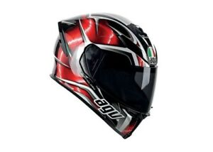 Casco Moto Integrale Agv K-5 Hurricane Black/red Helmet Taglia XL 0041a2f0-011-1