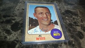 1968-TOPPS-AL-WEIS-AUTOGRAPHED-BASEBALL-CARD