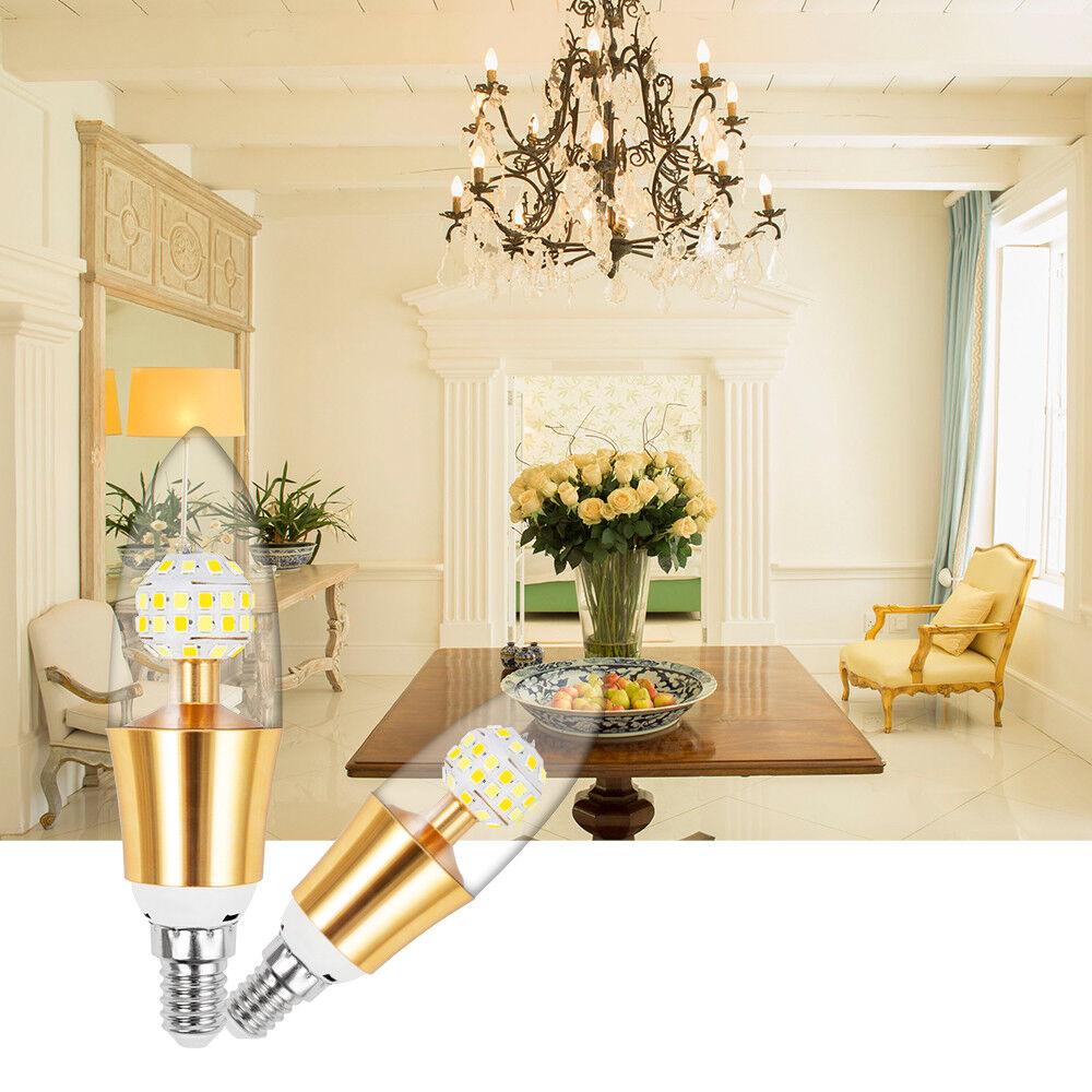 Dimmable E12 E27 LED Filament Candelabra Light Bulb Chandelier Flame Bullet Tips