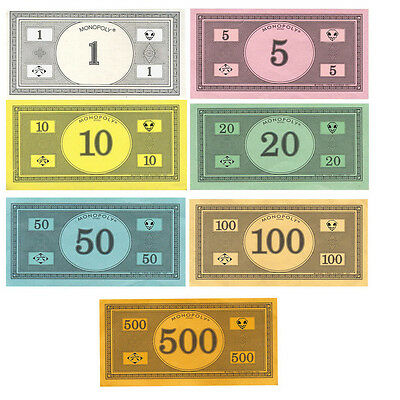 Monopoly Money - Traditional Currency (Original Colors) Replacement -U Pick  NEW | eBay